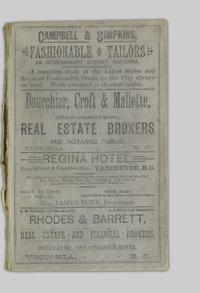 Williams' Victoria and Nanaimo cities directory, 1890, containing