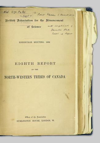 Eighth report of the committee, consisting of Dr  E  B