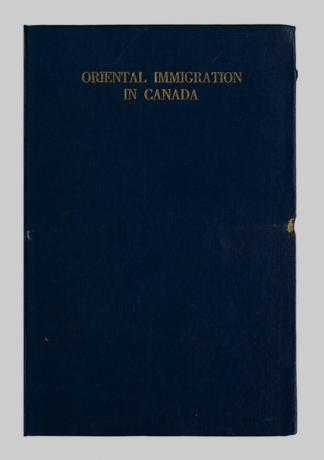 Oriental immigration in Canada - UBC Library Open Collections