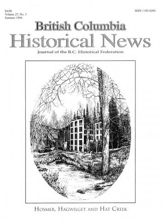 British Columbia Historical News - UBC Library Open Collections
