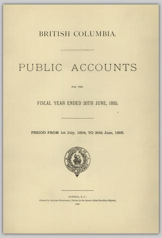 BRITISH COLUMBIA  PUBLIC ACCOUNTS FOR THE FISCAL YEAR ENDED