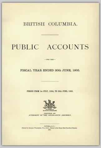BRITISH COLUMBIA  PUBLIC ACCOUNTS FOR THE FISCAL YEAR ENDED 30TH