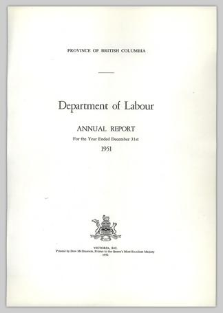 Department of Labour ANNUAL REPORT For the Year Ended