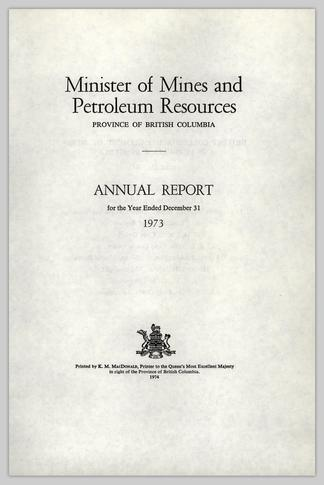 Minister of Mines and Petroleum Resources PROVINCE OF