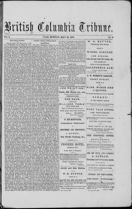 Thumbnail of British Columbia Tribune (Yale)