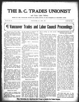 Thumbnail of BC Trades Unionist (Vancouver)