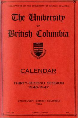 Thumbnail of UBC Calendars