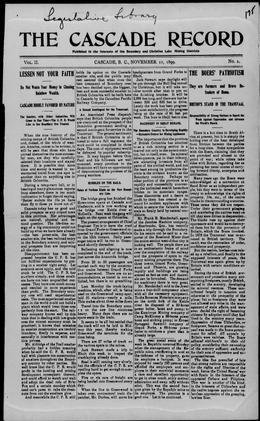 Thumbnail of Cascade Record