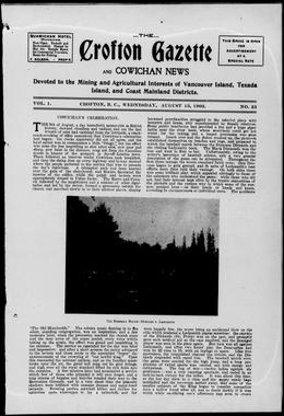 Thumbnail of Crofton Gazette and Cowichan News