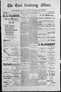 Thumbnail of East Kootenay Miner (Golden)