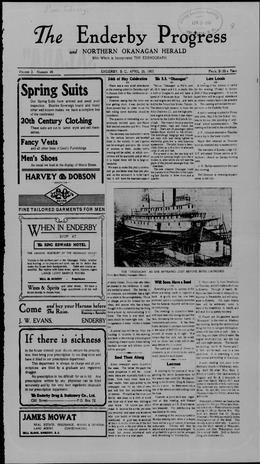 Thumbnail of Enderby Progress and North Oakanagan Herald