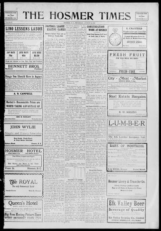 The Hosmer Times - UBC Library Open Collections f73f4fcdb