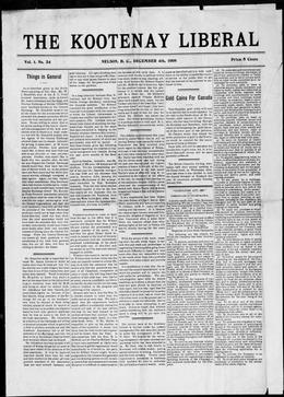 Thumbnail of The Kootenay Liberal