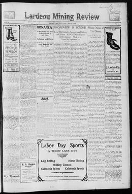 Thumbnail of Lardeau Mining Review (Trout Lake)