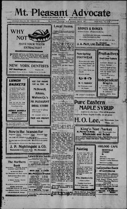 Thumbnail of Mount Pleasant Advocate (Vancouver)