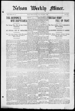 Thumbnail of Nelson Weekly Miner
