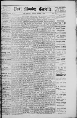 Thumbnail of Port Moody Gazette