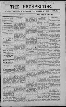 Thumbnail of Prospector (Rossland)