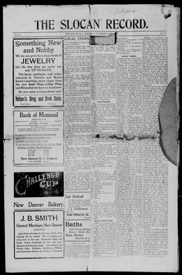 Thumbnail of Slocan Record