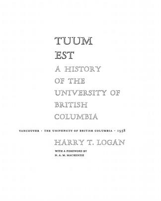 Tuum Est - UBC Library Open Collections