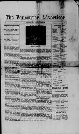 Thumbnail of Vancouver Advertiser