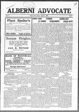 Thumbnail of Alberni Advocate
