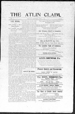 Thumbnail of The Atlin Claim