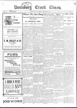 Thumbnail of The Boundary Creek Times