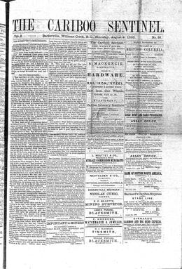 Thumbnail of The Cariboo Sentinel (Barkerville)