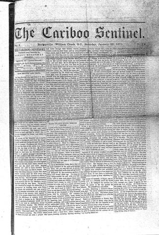 The Cariboo Sentinel - UBC Library Open Collections