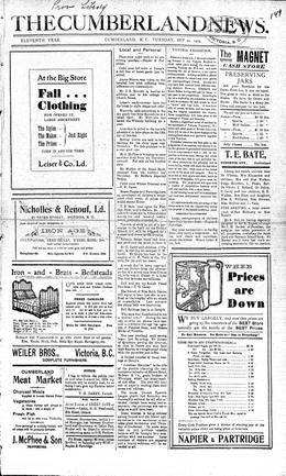 Thumbnail of The Cumberland News