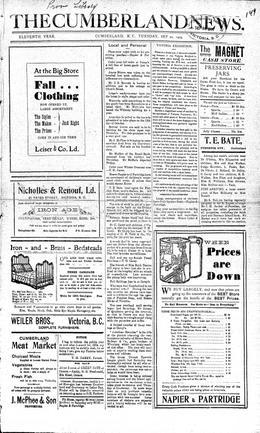 Thumbnail of The Cumberland News