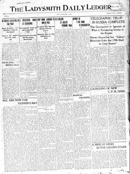 Thumbnail of The Daily Ledger (Ladysmith)
