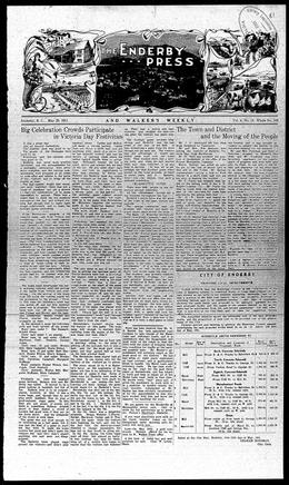 Thumbnail of The Enderby Press and Walker's Weekly
