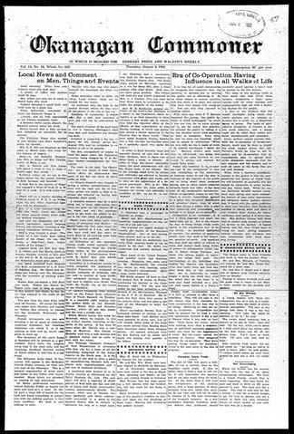 Okanagan Commoner - UBC Library Open Collections