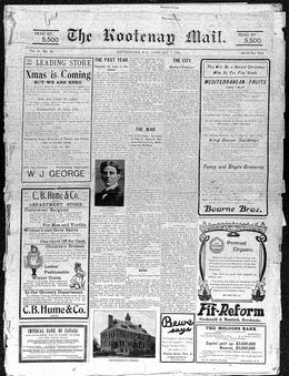 Thumbnail of The Kootenay Mail