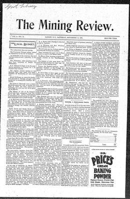 Thumbnail of The Mining Review (Sandon)